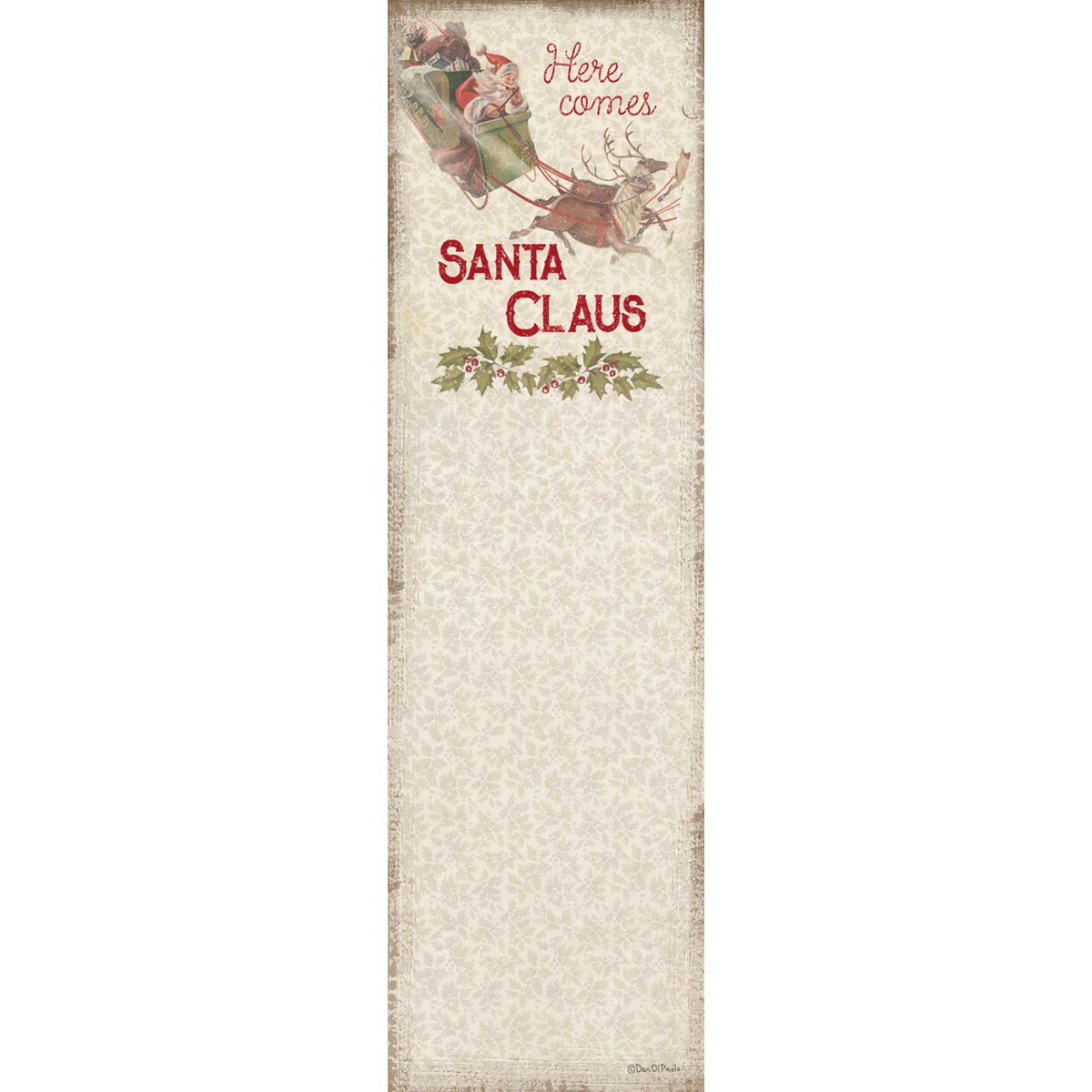 List Notepad - Here Comes Santa Claus