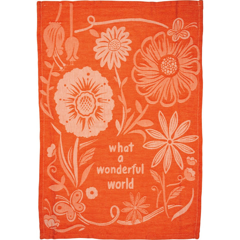 Dish Towel - What A Wonderful World