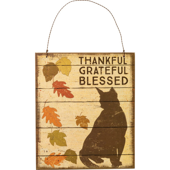 Blessed Cat Hanging Decor