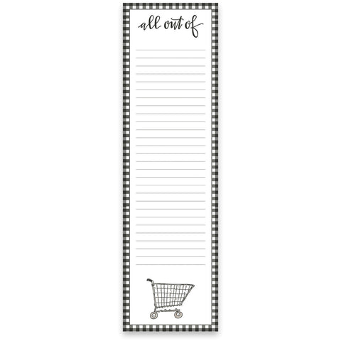 List Pad - All Out Of