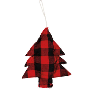 Ornament - Red And Black Check - Tree