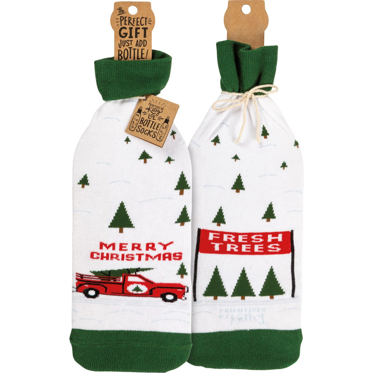 Bottle Sock - Truck & Tree