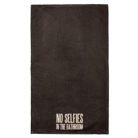 Hand Towel - No Selfies In The Bathroom