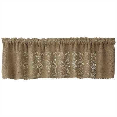 "Lace Valance ""Oatmeal"""