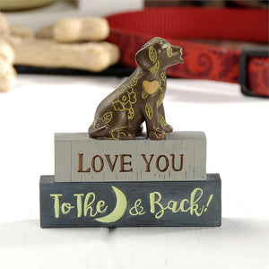 """LOVE YOU TO THE MOON AND BACK"" DOG BLOCK"
