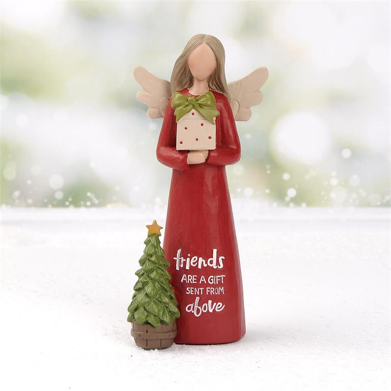 """FRIENDS ARE A GIFT"" CHRISTMAS ANGEL"