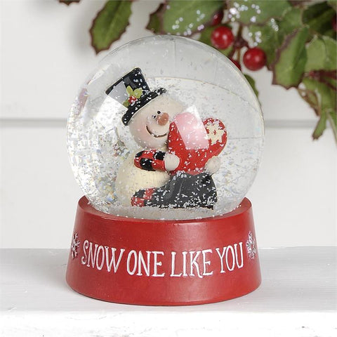 """SNOW ONE LIKE YOU"" SNOWGLOBE WITH SNOWMAN"