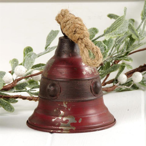 METAL CHRISTMAS BELL WITH BRONZE ACCENT