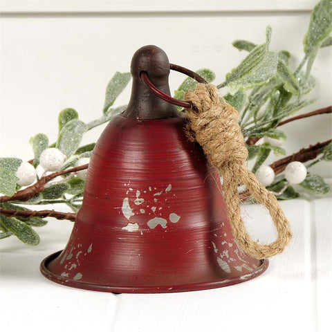 RED METAL CHRISTMAS BELL