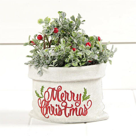 MERRY CHRISTMAS PLANTER