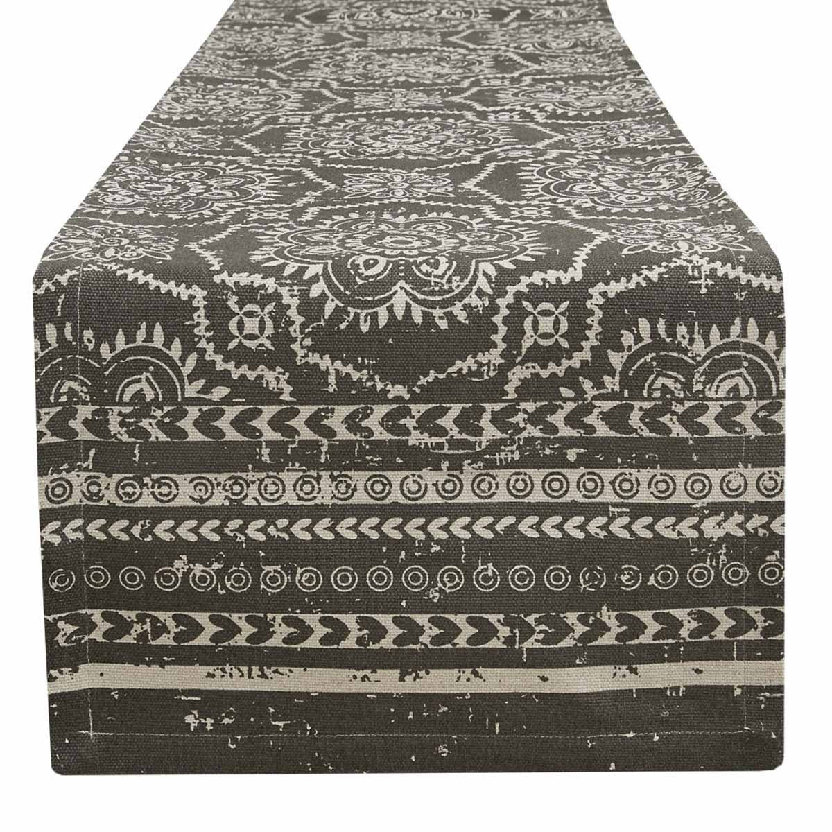 SAMORA TABLE RUNNER -SLATE