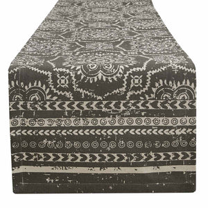 SAMORA TABLE RUNNER- SLATE 90""