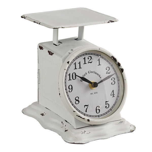 LIBERTY POSTAGE SCALE CLOCK WHITE