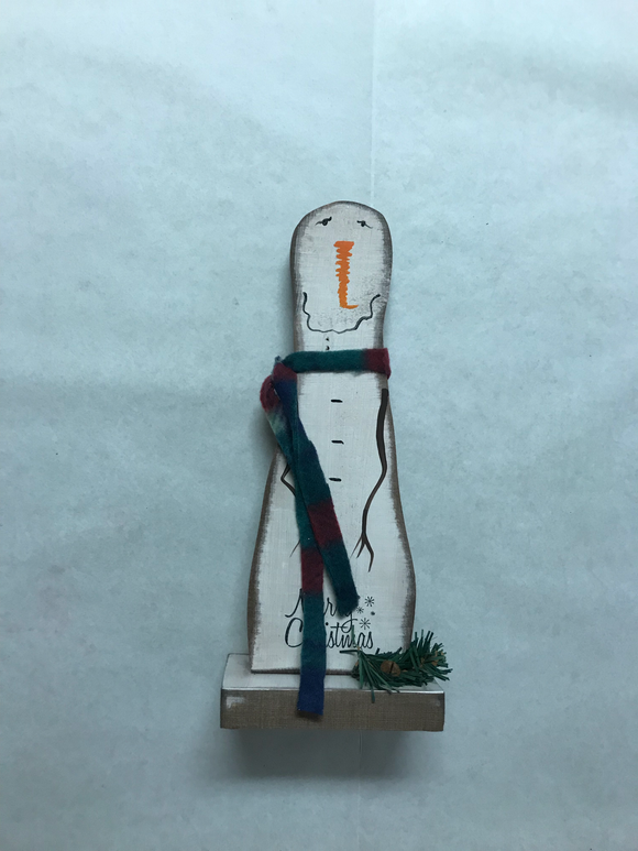 Wooden Snowman (Merry Christmas)