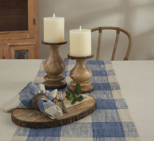 "CHESNEY BLUE TABLE RUNNER - 72""L"