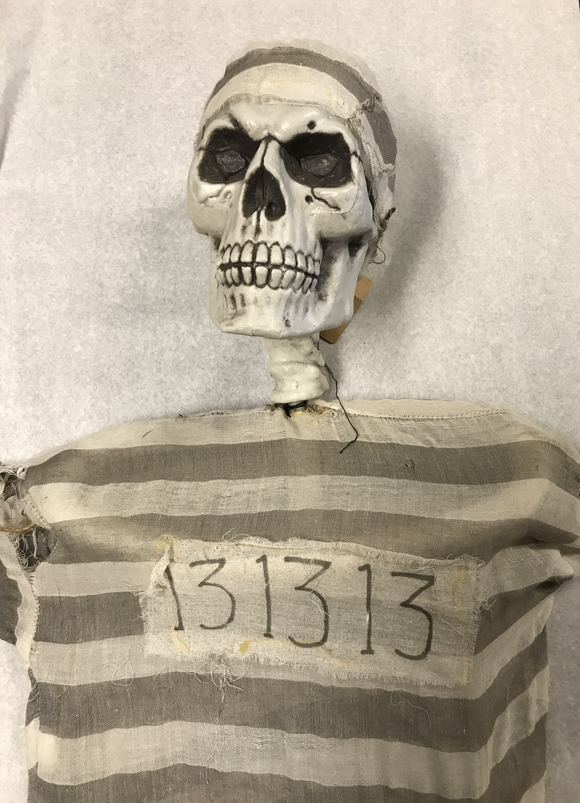 Hanging Jail Skeleton