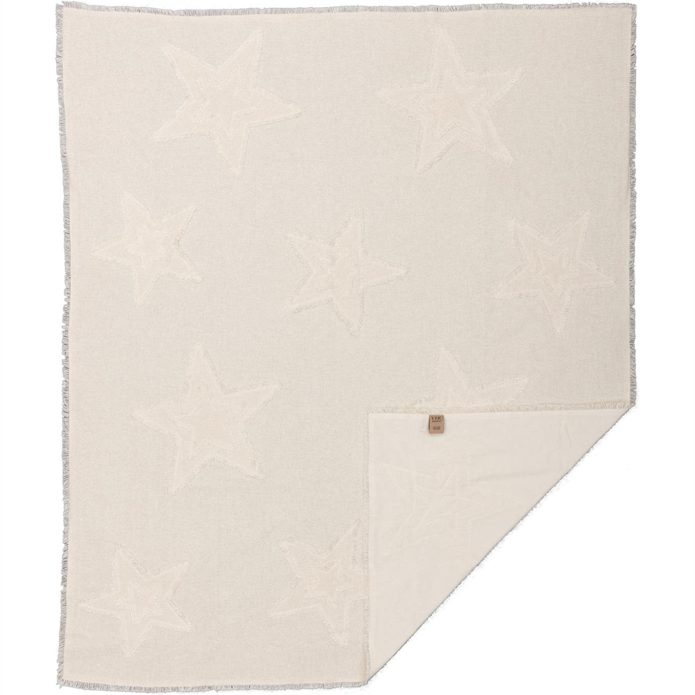 Burlap Antique White Star Woven Throw