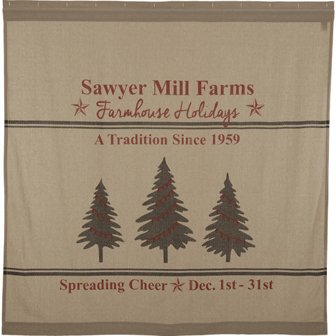 Sawyer Mill Holiday Tree Shower Curtain
