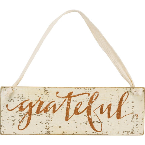 Slat Sign - Grateful