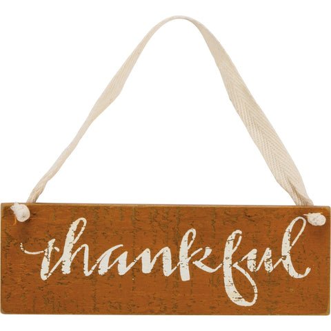 Slat Sign - Thankful