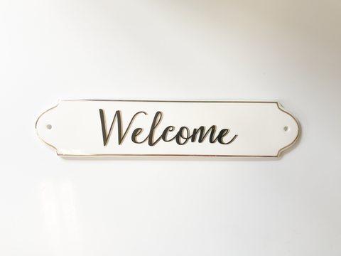 Stoneware Welcome Sign