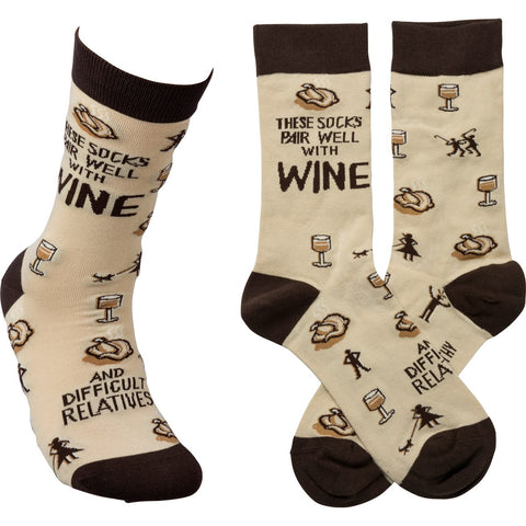 Socks - These Socks Pair Well With Wine