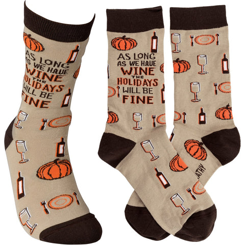 Socks - As Long As We Have Wine Holidays Fine