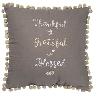 Pillow - Thankful Grateful Blessed