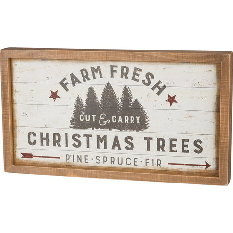 Inset Box Sign - Farm Fresh Christmas Trees