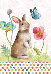 Bunny & Flowers-Fine Art Flag