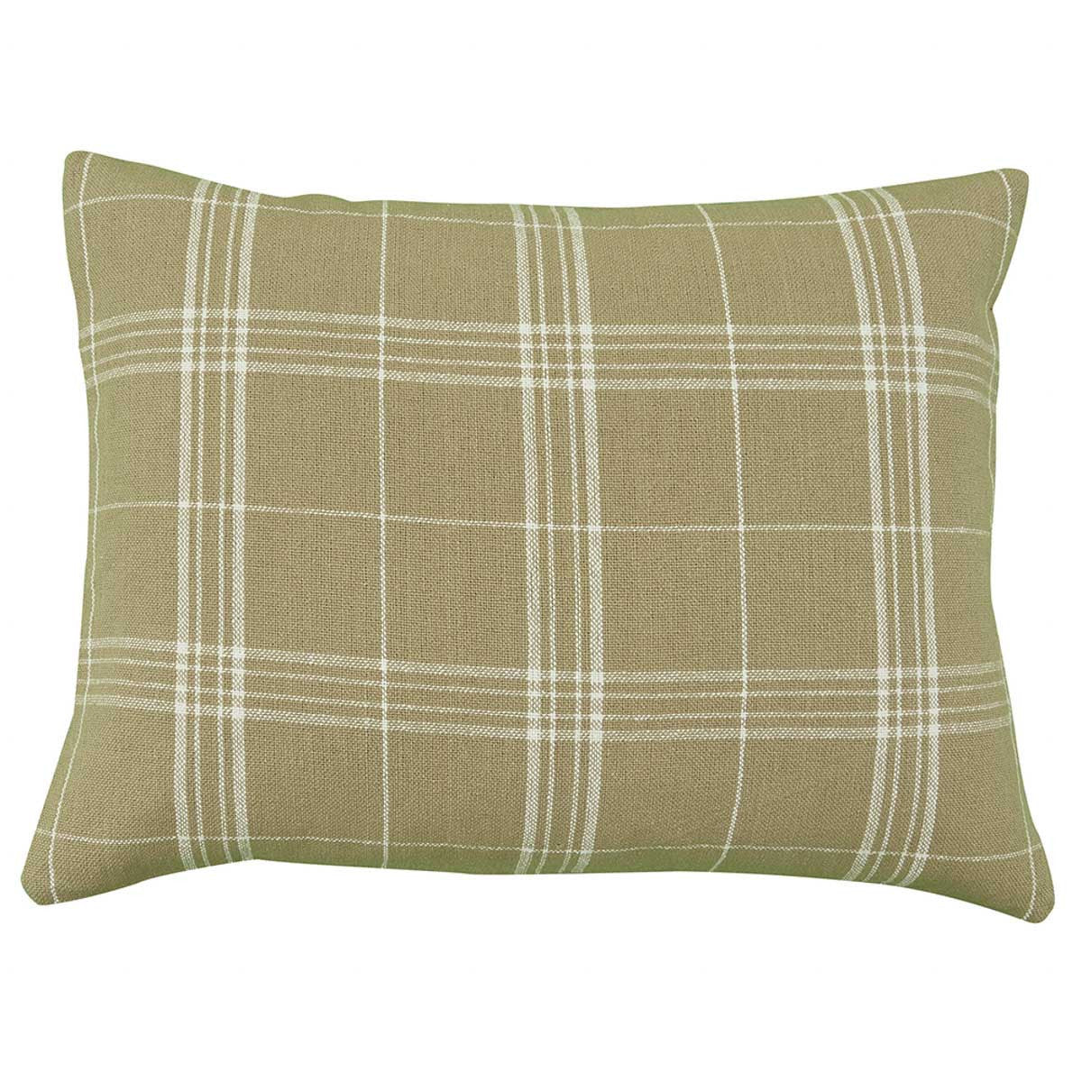 FIELDSTONE PLAID STANDARD SHAM - CREAM