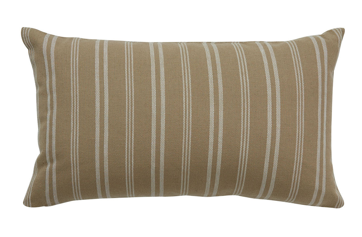 CHESTER STRIPE PILLOW - CREAM POLYESTER INSERT