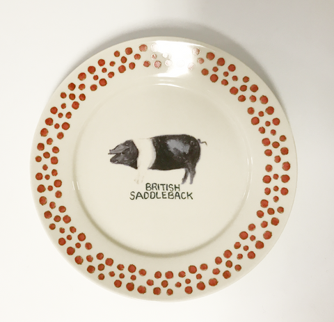 Stoneware Pig Plate