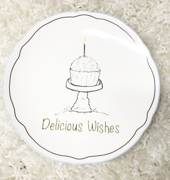 Delicious Wishes Plate