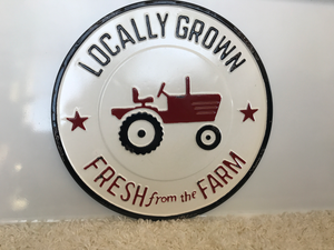 Metal Fresh Farm Sign