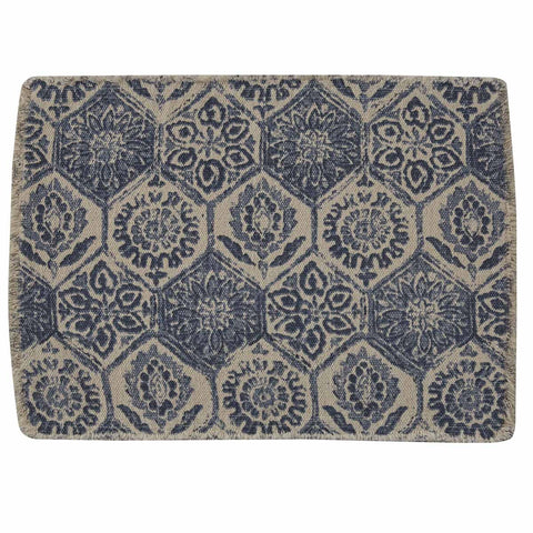 MOSAIC TILE PRINTED PLACEMAT - BLUE