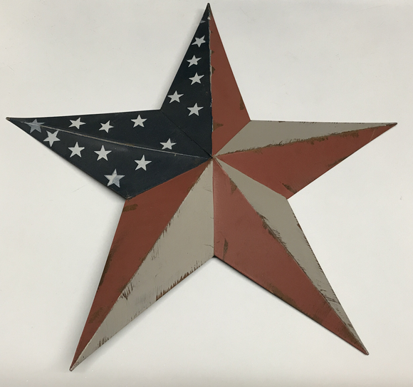 American Flag Metal Star