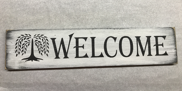 Welcome Tree Sign