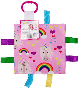 Unicorn Hearts Crinkle Tag Square