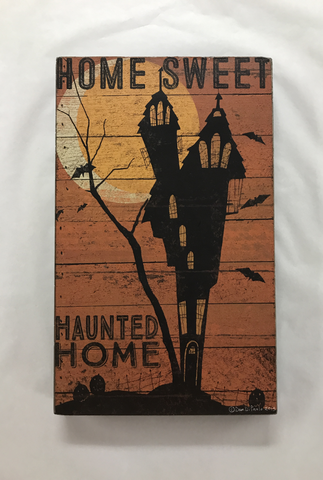 Haunted Home Box Sign