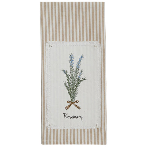 ROSEMARY EMBROIDEERD PATCH DISHTOWEL