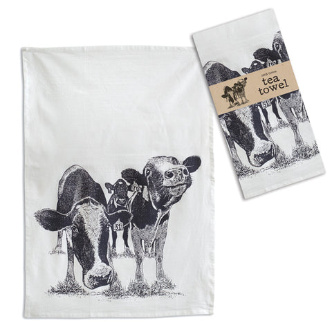 Happy Cows Tea Towel
