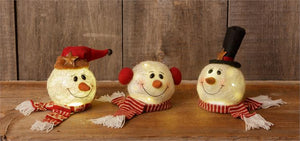 Snowman Heads - Lit, Assorted (Sold Separately)