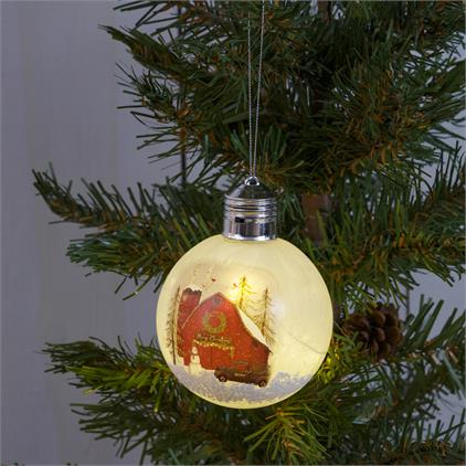 Lighted Ornament - Christmas Barn