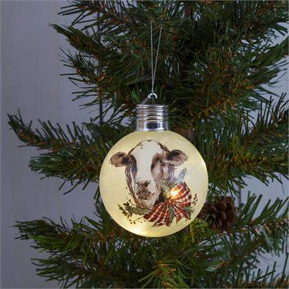 Lighted Ornament - Cow