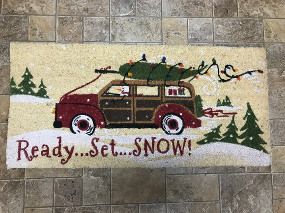 Ready Set Snow Door Mat