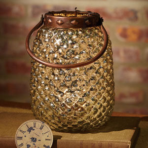 Small Mercury Hobnail Candle Jar