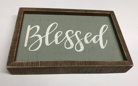 Blessed Box Sign