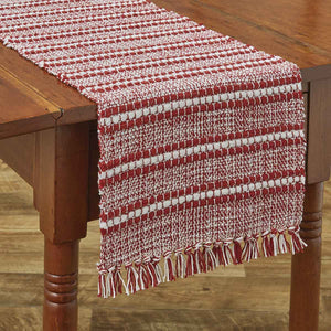 "PEPPERMINT STRIPE TABLE RUNNER - 54""L"