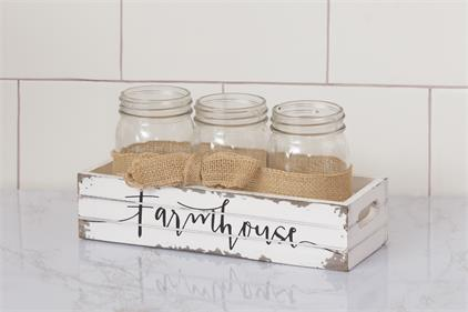 Mason Jar Holder - Farmhouse